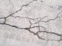 Cracked pavement
