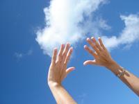 hand to sky