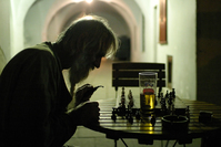 old man and a game of chess