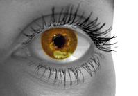 Girl's golden eye