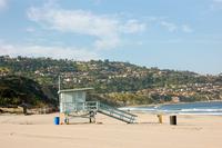 Lifeguard tower at beach