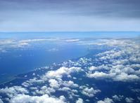 Brazil coastline flight