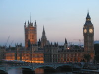 London Parliament Dusk