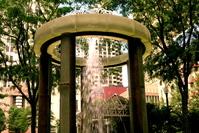 city, fountain