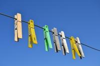 Cloth Clips on a blue sky 1
