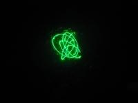 Green laser in water