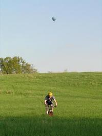 Racing a Hot Air Balloon