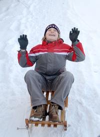 Boy on the sledge 1