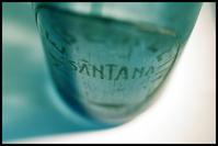 Macro of an old bottle