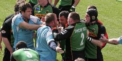 Northampton Saints in action