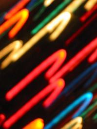 Motion Blur on Christmas Tree Lights