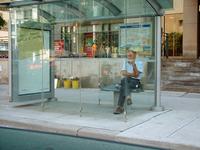 Man at a Bus Stop