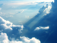 ray beam sky