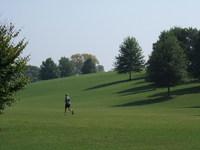 Man running in Piedmont Park