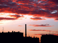heavy silesian (poland) sunset