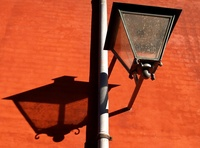 Classic streetlamp and shadow