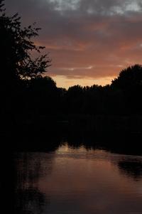 Upise down sunset
