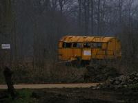 old caravan wreck