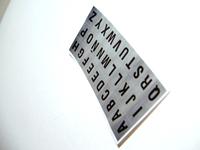 Alphabet letters stickers 1