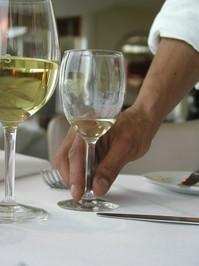 wine service at a restuarant