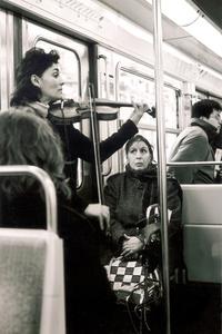 Fiddler on a Train in Paris