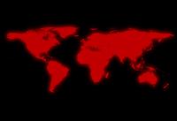 Red Black World Map