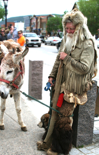 Mountain Man and Donkey