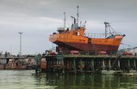 orange ship