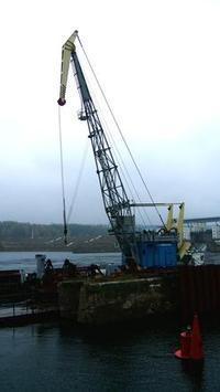 Crane on docks