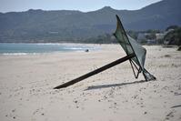Sardinia: Solitary beach Umbrella