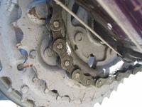 oiled chain