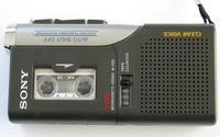 microcasette recorder