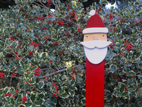 Wood Santa Claus