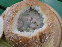 A soup in a bread