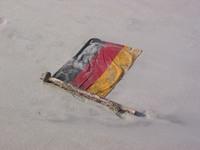 stranded german flag