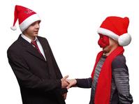 Christmas hand shake