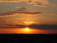 sunset in Lodz 1