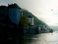 Early morning, Rhine River