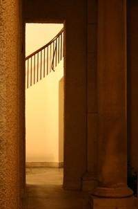Narrow Hall with Column