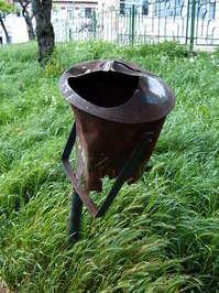 abandoned trash can