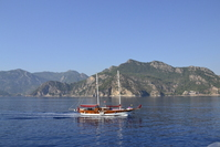 Boat on the Mediterranean in Turkey