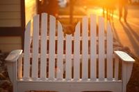 Sunset Adirondack Bench
