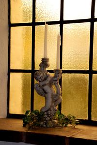 Chapel cherub candle