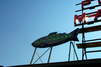 Pike Street - Fish Market sign