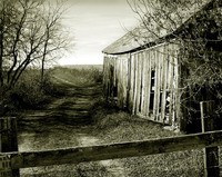 Shed and farmland