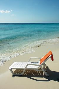 sunbed on tropical beach