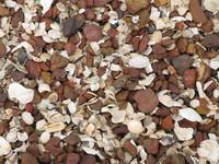 seashore pebbles