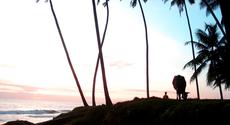 Indian sunset meditation