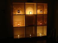 Candle bookshelf