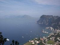 Capri harbour, seen from Anacapri